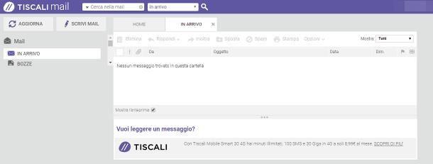 Come leggere le mail di Tiscali