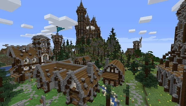 Villaggio su Minecraft con ISM