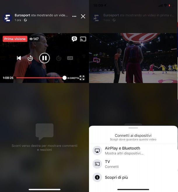 Come vedere una diretta Facebook sulla TV