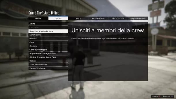 Unisciti a crew GTA Online