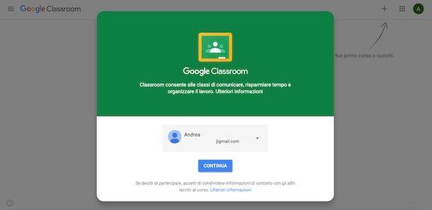 Accedere a Classroom