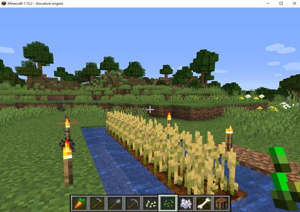 Coltivare il grano in Minecraft