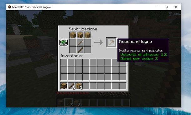 Piccone di legno Minecraft