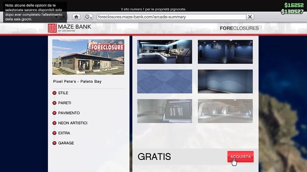 Sala giochi gratis GTA Online