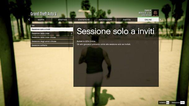 Sessione inviti GTA Online