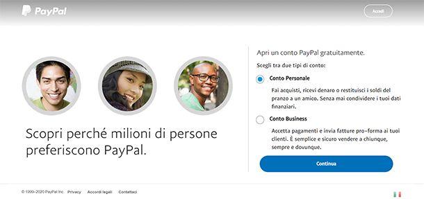 Come aprire un conto PayPal
