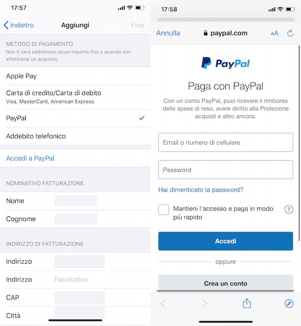 Come caricare App Store con PayPal
