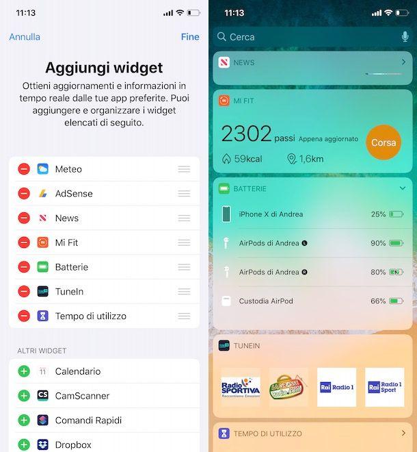 Come vedere batteria AirPods su iPhone