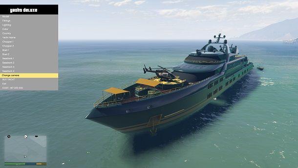 Acquistare yacht su GTA 5 Storia