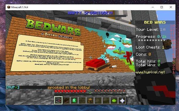 Muro introduttivo Minecraft
