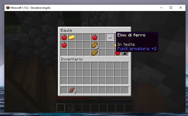Contenuto baule Minecraft