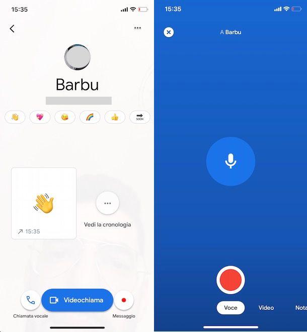 sare Google Duo da smartphone