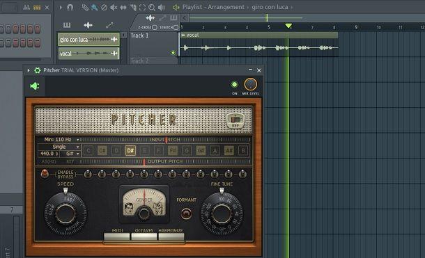 Canzone Test Pitcher autotune FL Studio