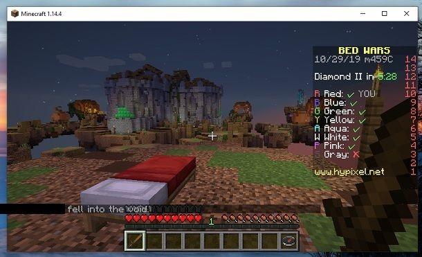 Esempio BedWars Minecraft