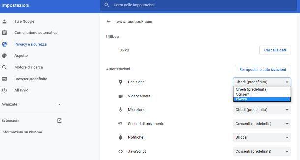 Come disattivare la localizzazione su Facebook
