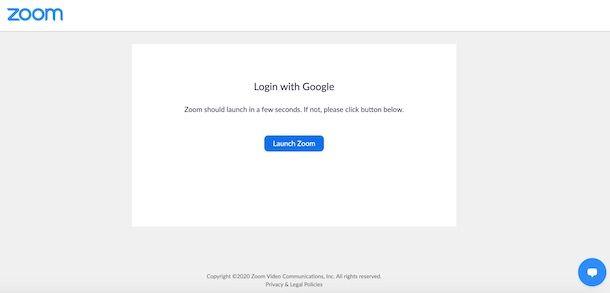 come accedere a Zoom con Google