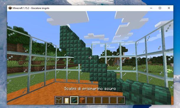 Scalini di prismarino scuro Minecraft