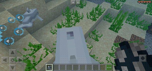 Come cavalcare un delfino su Minecraft PE