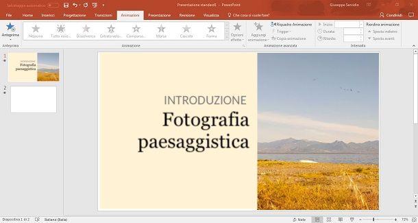 Usare immagini grandi PowerPoint