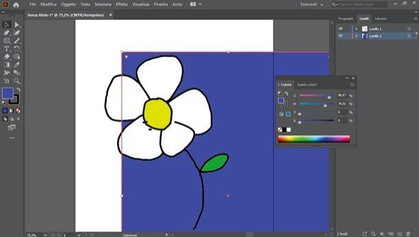 Modificare colore sfondo Illustrator