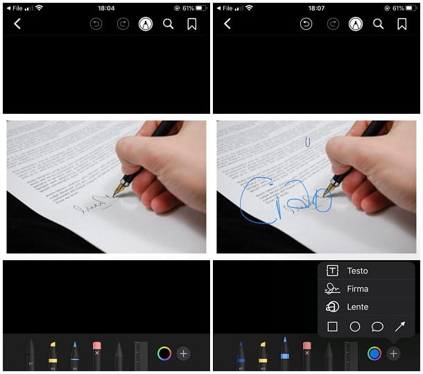 Come modificare una foto in PDF su iPhone