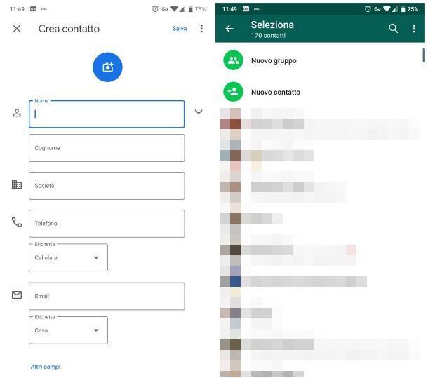 Come salvare le persone su WhatsApp per Android