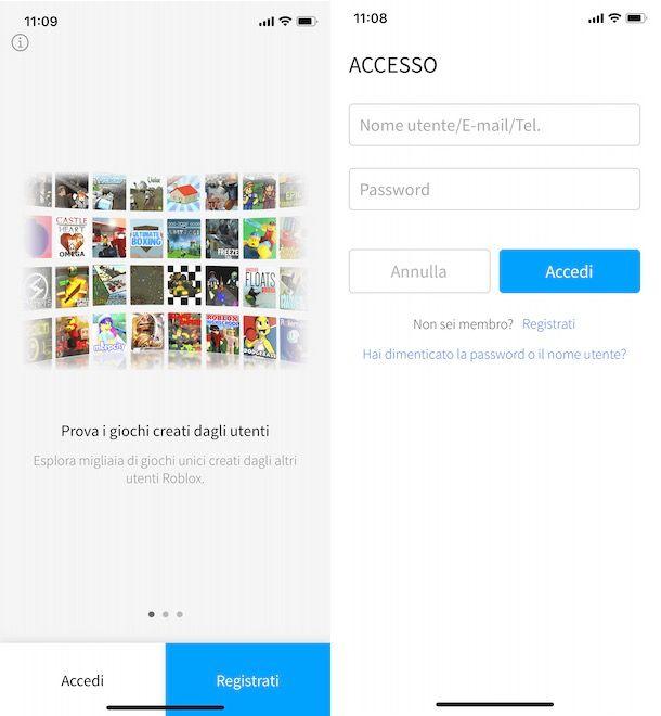 Recuperare password Roblox da app