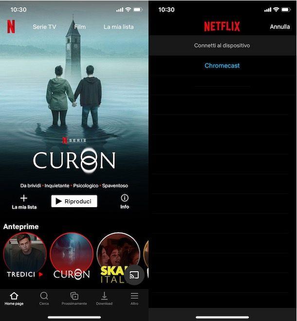 Guardare Netflix dal telefono alla TV con Chromecast