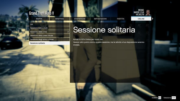 Sessione solitaria GTA Online