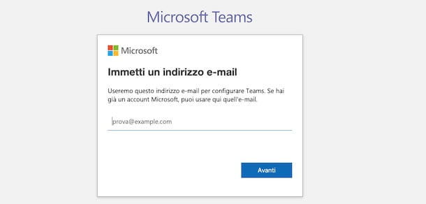 Come accedere a Microsoft Teams senza Office 365