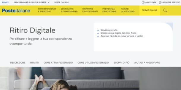 Ritiro digitale di Poste Italiane