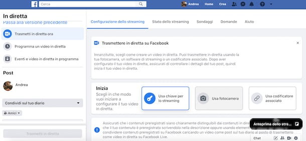 Come fare un webinar su Facebook
