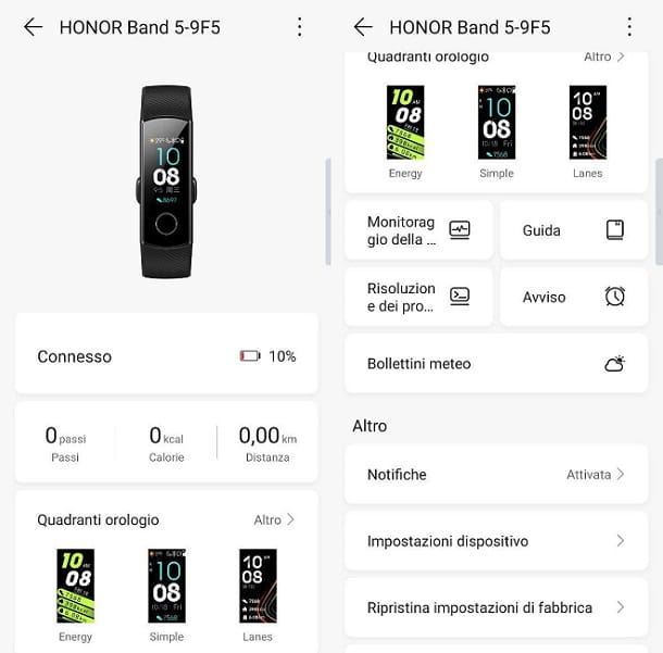 Presentazione app Honor Band 5