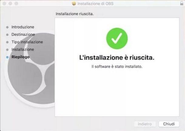 Installare correttamente OBS su sistemi macOS