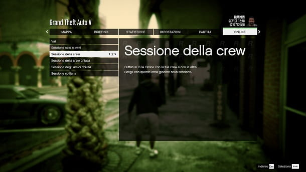 Sessione crew GTA Online