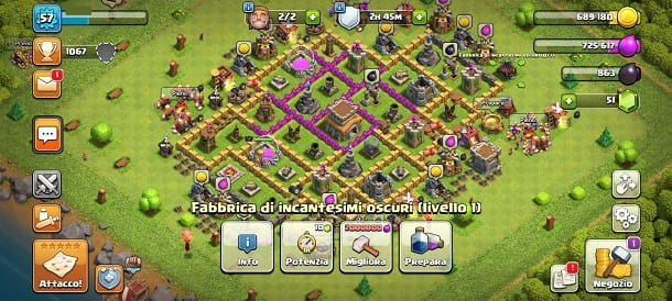 Fabbrica di incantesimi oscuri Clash of Clans