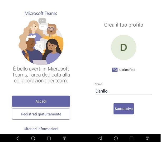 Usare Microsoft Teams da Android a iOS/iPadOS