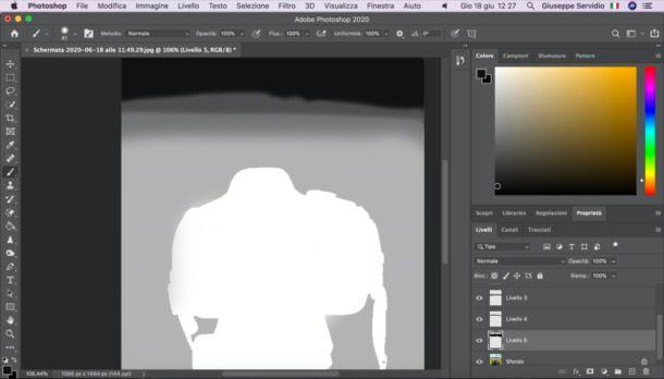 Creare una maschera di profondità su Photoshop