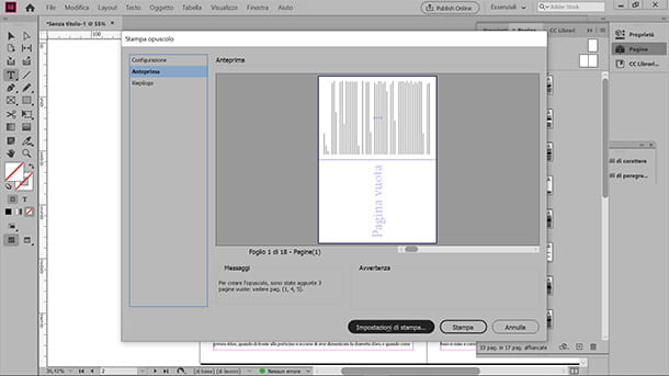 Come stampare un libretto da Adobe InDesign