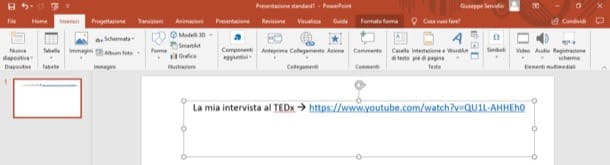 Link video su PowerPoint