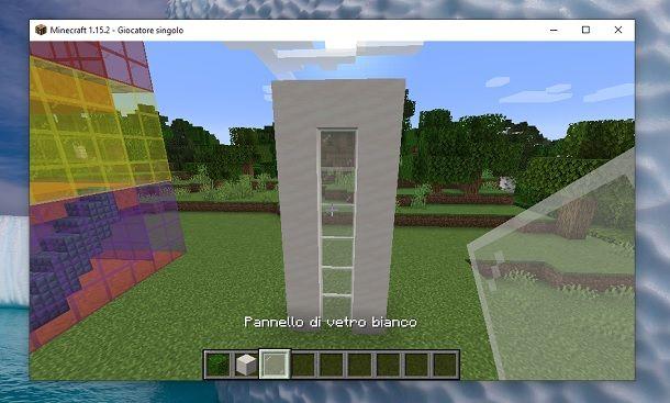 Pannello di vetro bianco Minecraft seconda casa