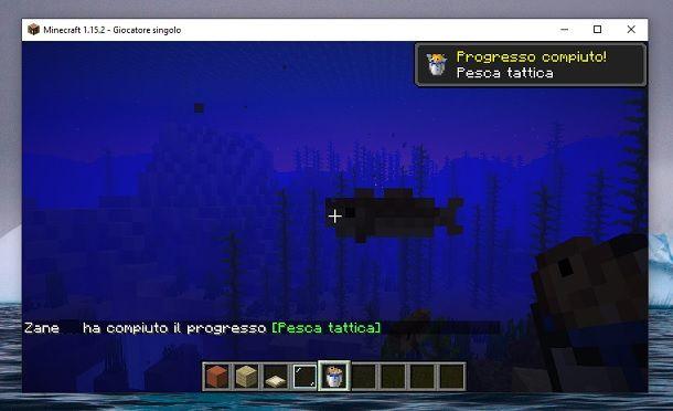 Secchio con pesce Minecraft