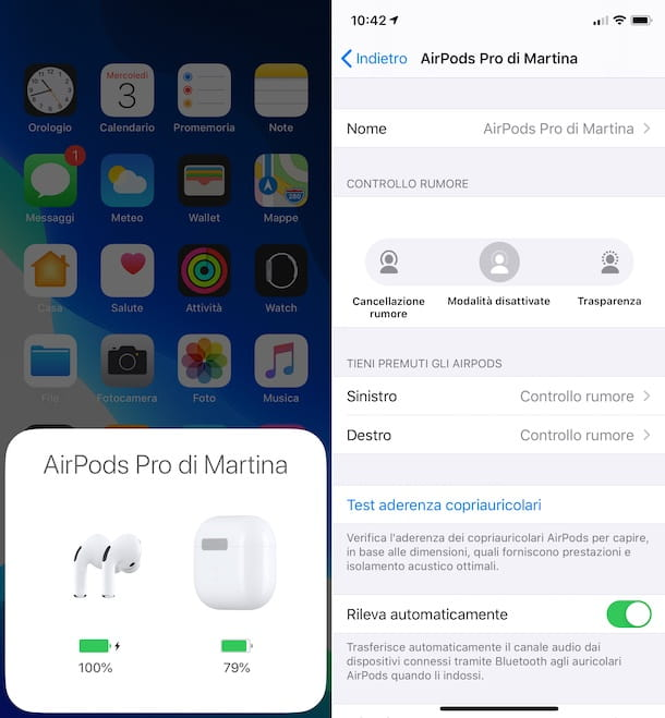 Connessione AirPods Pro iPhone