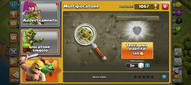 Trova partite Clash of Clans
