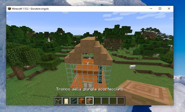 Tronco della giungla scortecciato Minecraft