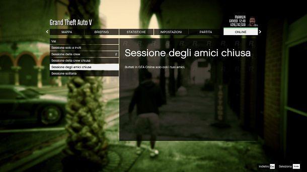 Sessione amici chiusa GTA Online
