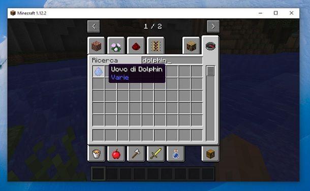 Uovo di Dolphin Minecraft
