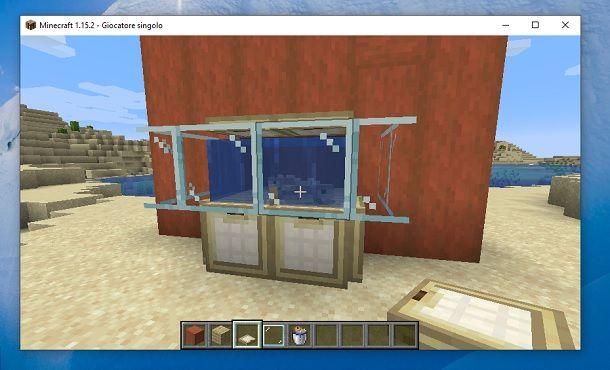 Acquario base finito Minecraft