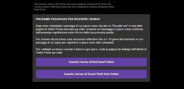 Come riscattare bonus GTA Online Twitch Prime