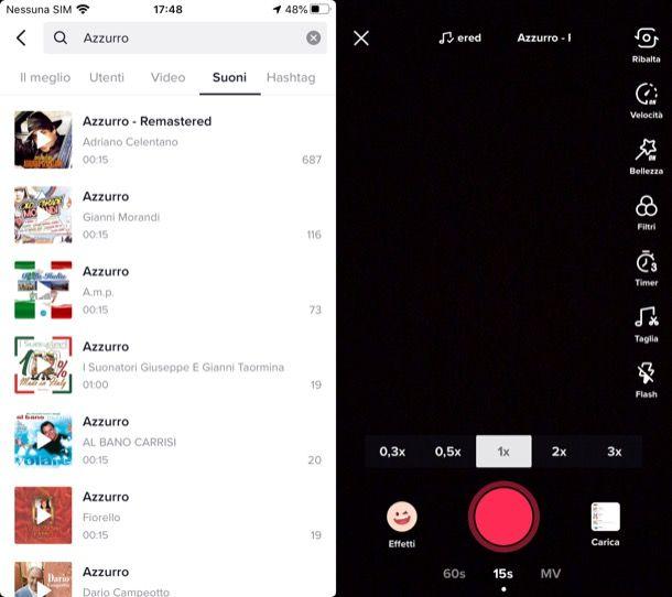 Inserire canzone su TikTok iPhone